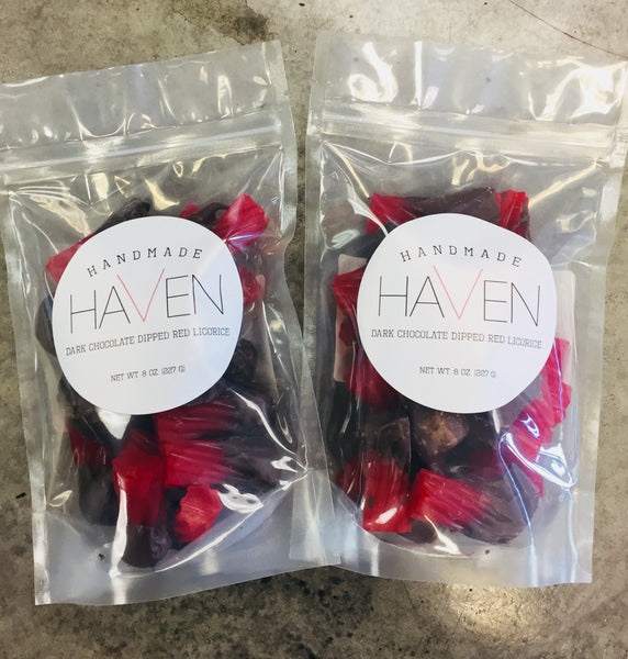 Australian Red Licorice and Dark Chocolate