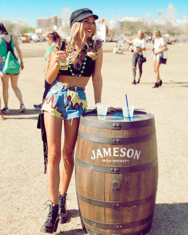 Stars mesh shirt at Stagecoach