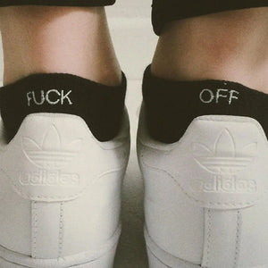 Black F-Off Socks