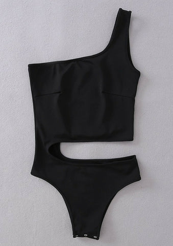 Cutout Bodysuit Black