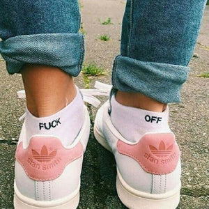 White F-Off Socks