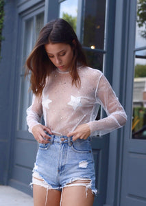 Scattered Drops Mesh Top