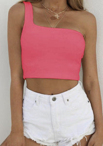 Anna Crop Cold Shoulder