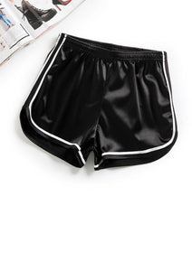 Metallic Shorts Black