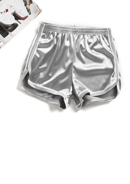 Metallic Shorts Gray