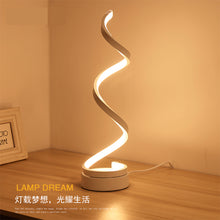 Creative Design Spiral Modern Table Light Acrylic Table Lamps For Bedroom Beside Lamp Home Decor Lighting Fixture
