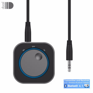 Doosl Bluetooth 4.1 Transmitter and Receiver 2-In-1 Wireless Bluetooth Adapter 3.5mm Stereo Output for Headphone TV  PC Speaker