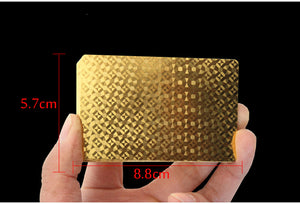 Golden Playing Cards Deck gold foil poker set Magic card 24K Gold Plastic foil poker Durable Waterproof Cards