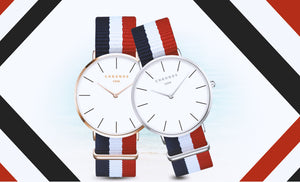 2017 New CHRONOS Watches For Men Women Ultra Slim Quartz Watch with Simple Nylon Band Relogio Masculino Fashion Wristwatches