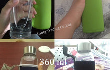 Glass Water Bottle with protective bag Travel Drinkware Portable Bottle Transparent Bottle for Water Tea Glass Sport Bottle