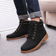 Men boots fashion Winter ankle snow shoes 2017 new arrival winter warm PU man shoes