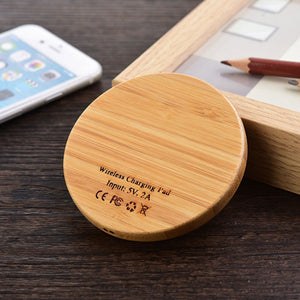 OLLIVAN Qi Charger Wooden Nature Portable Wireless charger Fast charge For Samsung Galaxy S8 S7 Note 8 For Iphone 8 X Pad Phone