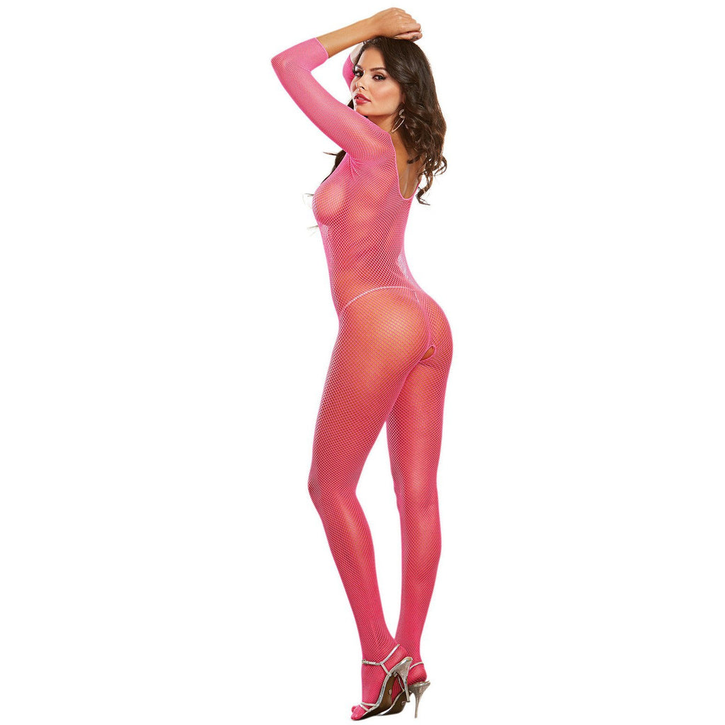 Fishnet Bodystocking Neon Pink