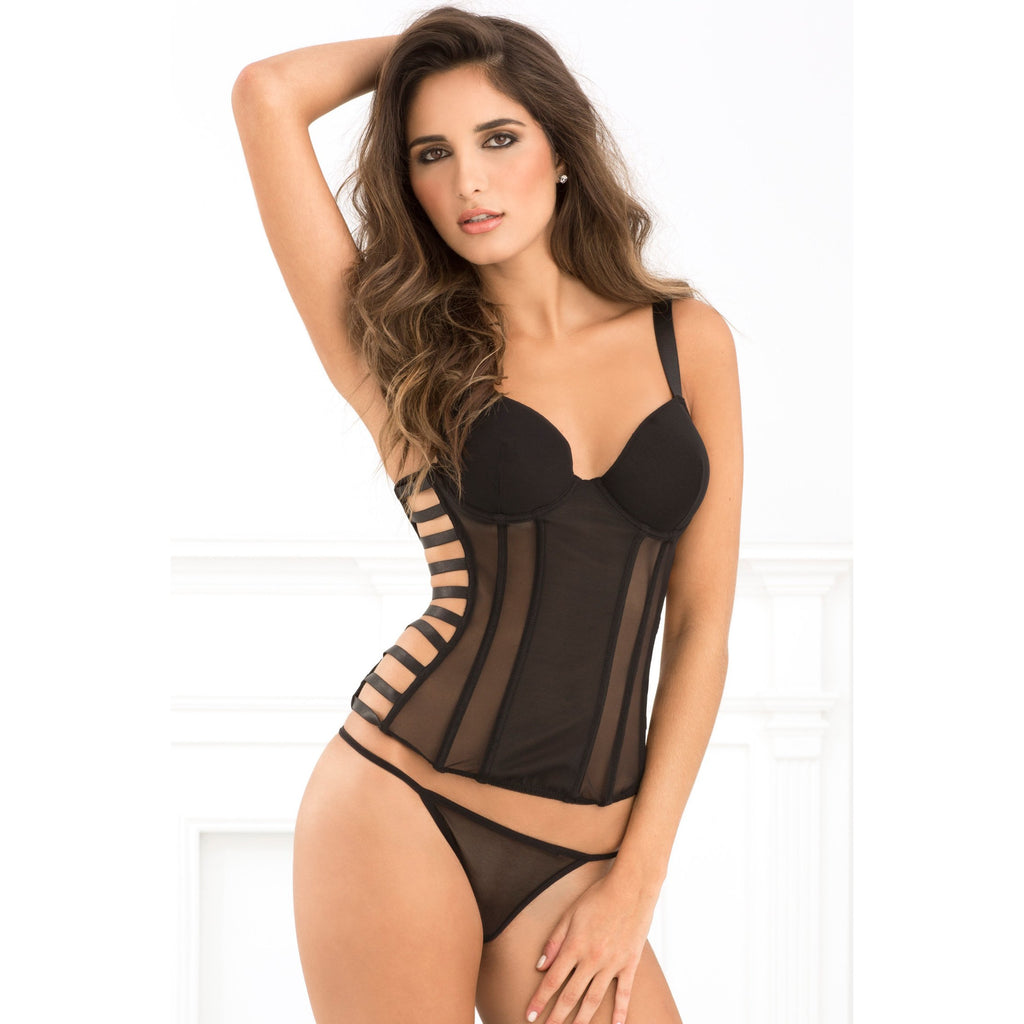 Uncaged Seductive Strappy Bustier and G Set