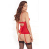 Crimson Nights Lace Cup Bustier and G Set