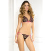 2 Pc Lace Tie-Up Bra and Thong Set