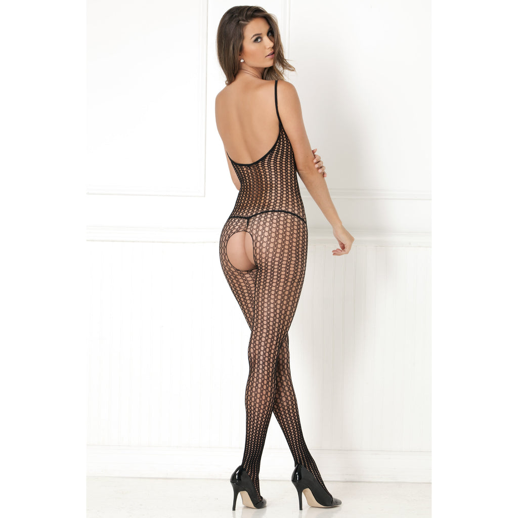 Quarter Crochet Net Bodysuit