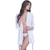 Eyelash Lace Robe And G-String