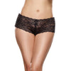 Open Crotch Boy Short Black