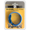 Boneyard Silicone Cock Strap - 3 Snap Ring - Blue