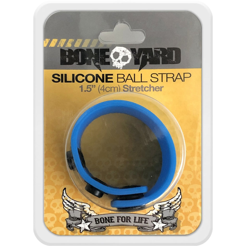 Boneyard 1.5inch Silicone Ball Strap - 3 Snap - Blue