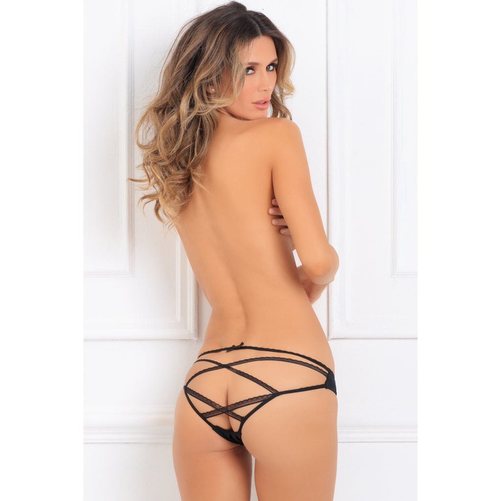 Lace Lovers Crotchless Panty