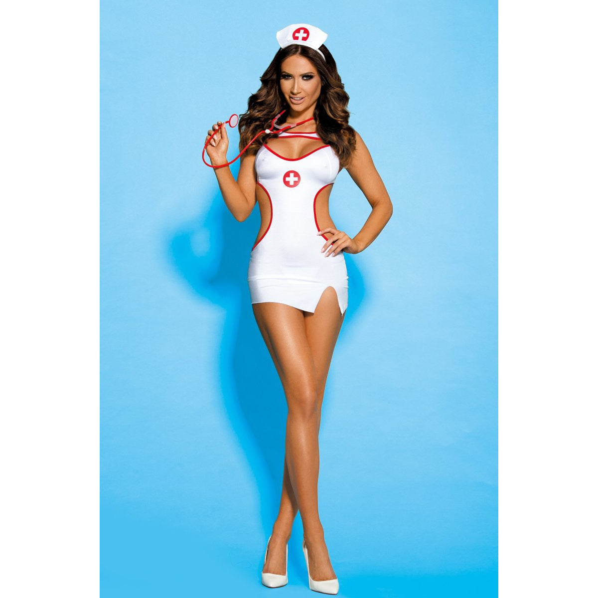 Nurse Costume 4 Pc White