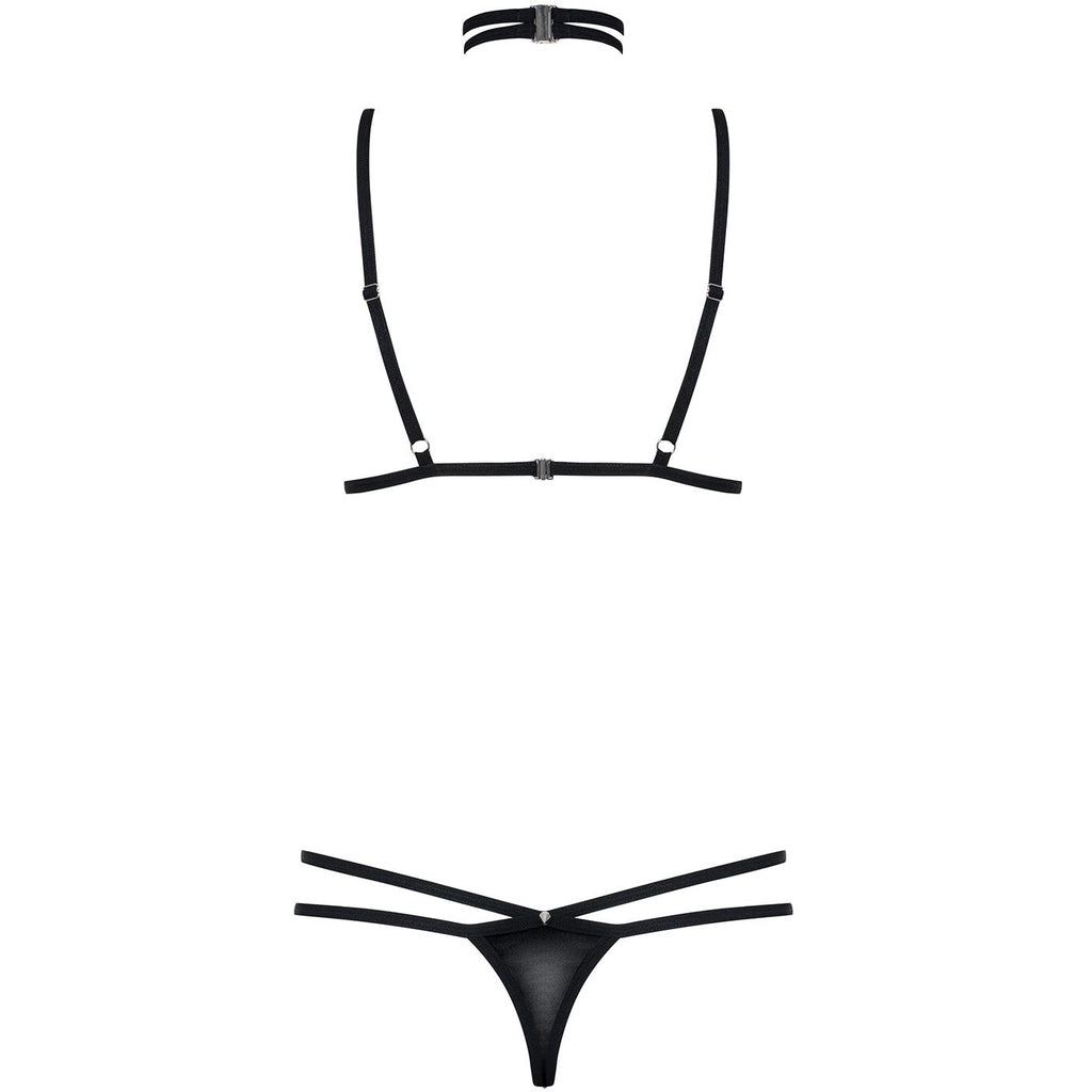 Wet Look 3 Pc Choker Set