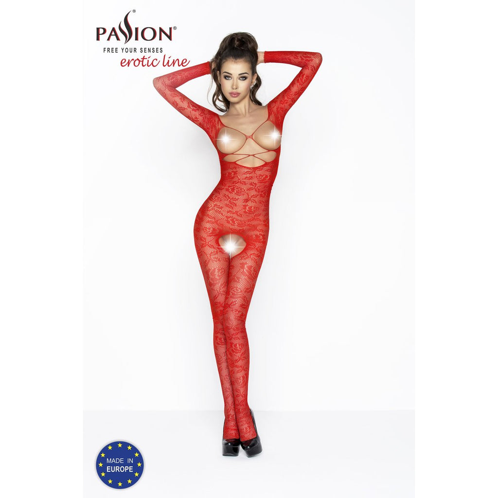 Bodysuit Open Cup Red BS032