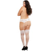 Stretch Lace Garter Belt Hook And Eye Back Closure White