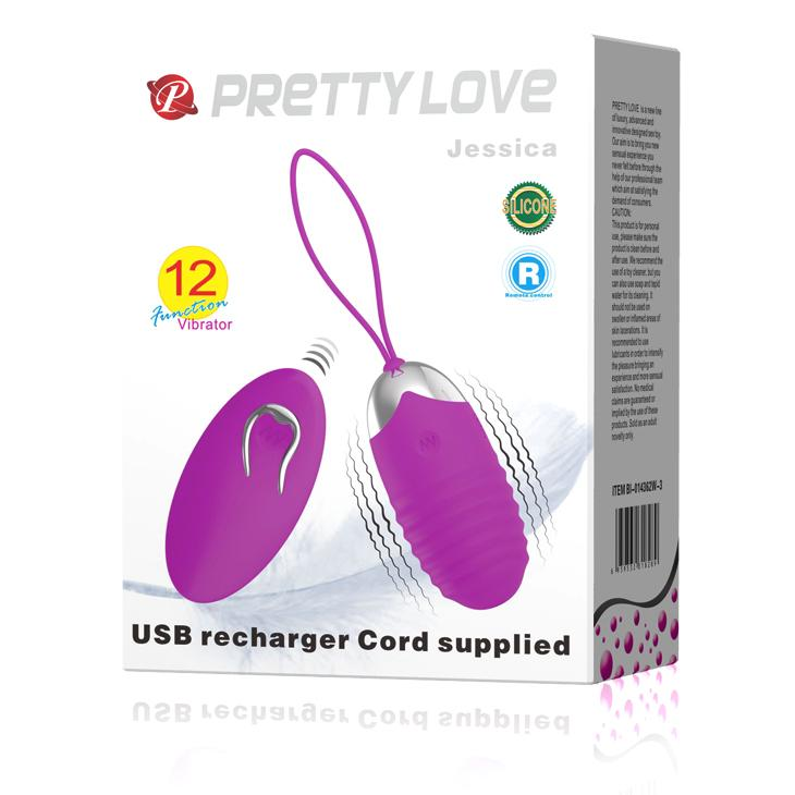 "Vibrating Egg Rechargeable ""Jessica"" Purple"