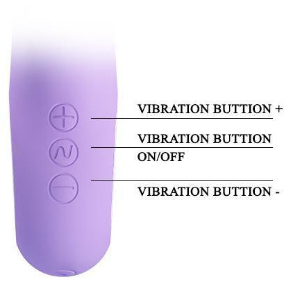 "Textured Tongue Vibrator Mauve ""Canrol"" 171mm"