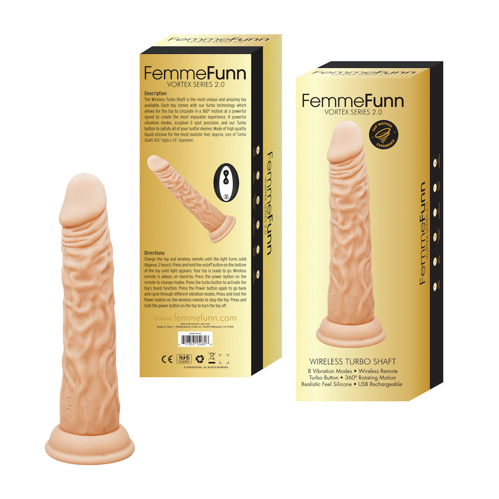 FEMME FUN TURBO SHAFT 2.0 NUDE DONG VIBRATING DILDO