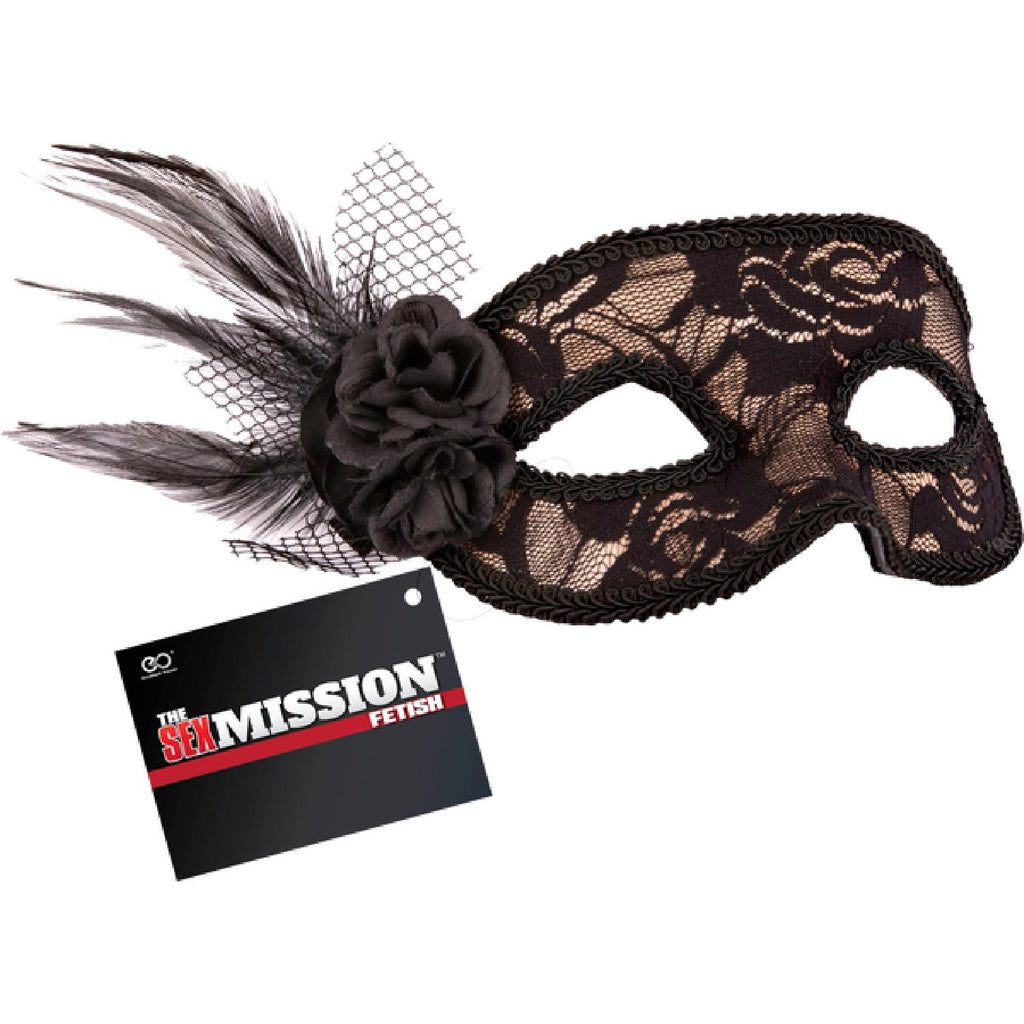 Feathered Lace Masquerade Masks