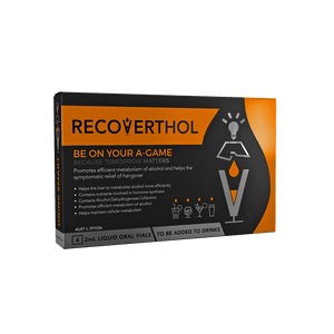 "Recoverthol Starter Retail Counter 12 pack (Min 12 total $156) + One ""trial"" pack of 4 Vials Free"