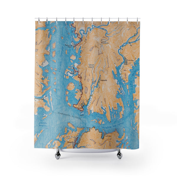 Maupeo and Angosta (set in Chile): Shower Curtain
