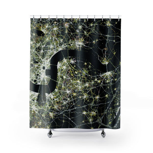 Norsham by Night (set in England): Shower Curtain