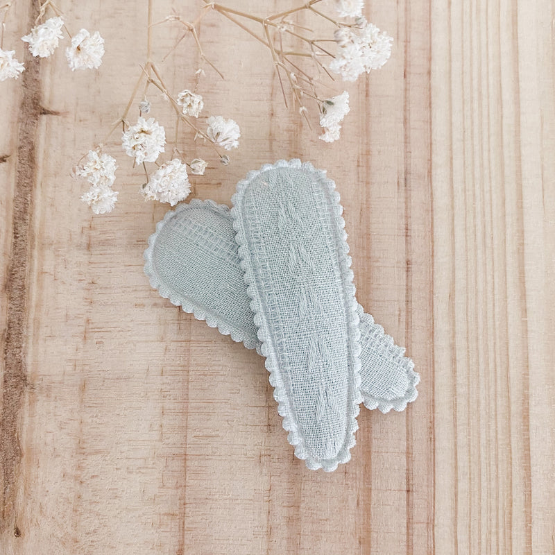 Aurora Hair Clips (2pk) - Sage Butterfly
