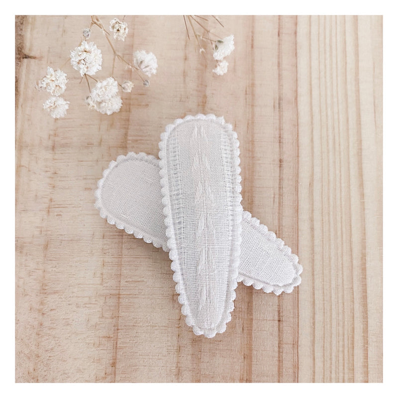 Aurora Hair Clips (2pk) - Ivory Butterfly