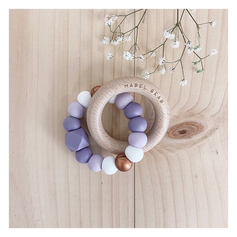 SATURN LILAC COPPER Teething Ring