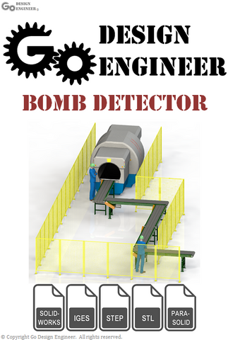 3D Model From Industry: Airport Bomb Detection Unit: OEM Belt Conveyors, Modular Bomb Detection System, 3D Workers