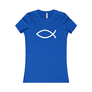 T-Shirt Women's Cotton - JESUS FISH