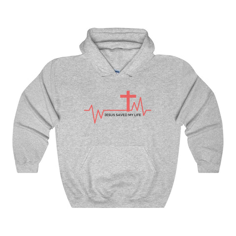 Hooded Cotton Sweatshirt Unisex - JESUS SAVED MY LIFE