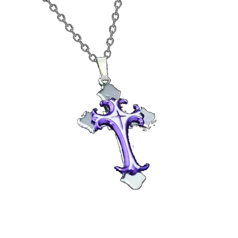 Three Layered Stainless Steel Titanium Christian Crucifix Cross Necklace-GodsLightGifts.com