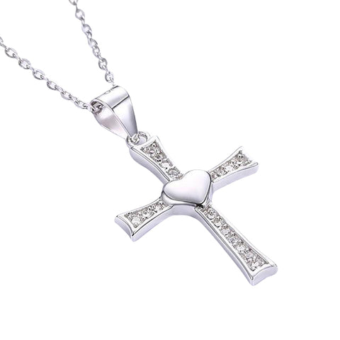 "Sterling Silver ""Jesus Crucifix"" Necklace"