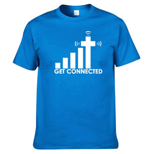 "Cotton Tee ""GET CONNECTED TO JESUS"""