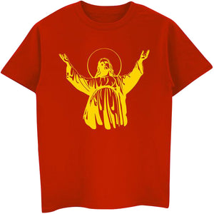 T-Shirt Men's Cotton ARMS WIDE OPEN | Christian Clothing | GodsLightGifts.com