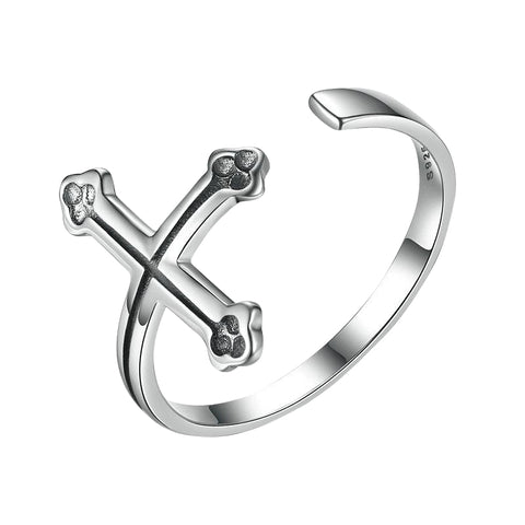 Rings - Women's 925 Sterling Silver Christian Cross Gothic Style Ring