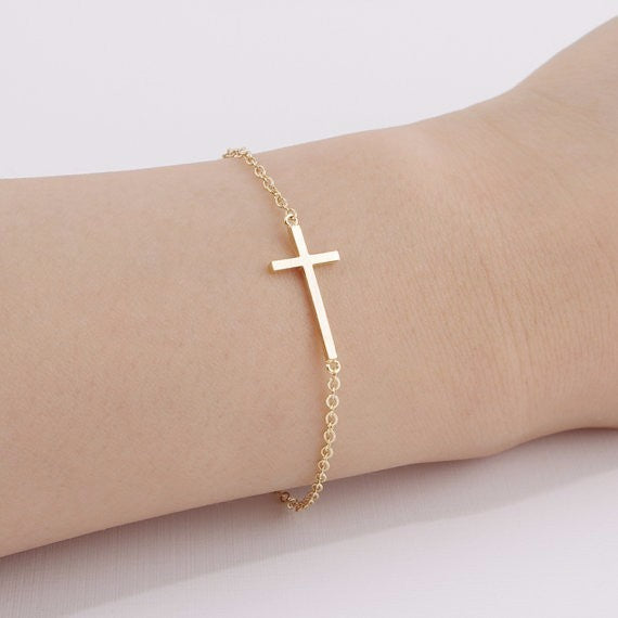 FREE GIFT! - Stainless Steel Jesus Christ Crucifix Pendant Bracelet for Women