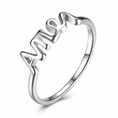 Ring - High Quality Silver Plated Christian Amen